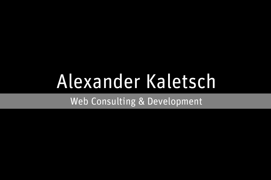 Alexander-Kaletsch.de - Web Consulting & Development